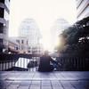 Exhale (DowntownRickyBrown) Tags: 120 mediumformat slidefilm explore downtownoakland rolleiflex28d fujichromeastia100f morebacklight