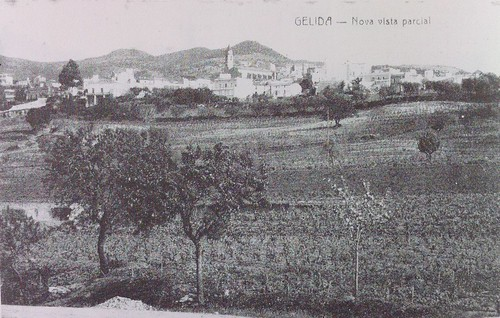 Gelida des de Can Pasqual (1909 aproximadament)