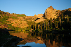 Lake Blanche in the Twin Peaks Wilderness, Wasatch Mountains, Utah (at sunset)