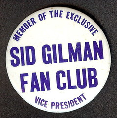 Sid Gillman Fan Club Button