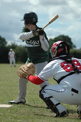 Catcher Oz Kemal in action against Braintree