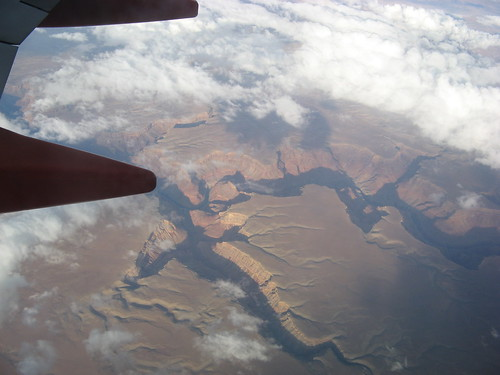 Grand Canyon from an airplane window