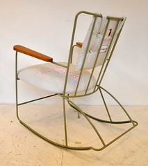 Ernest Race rocking chair in green