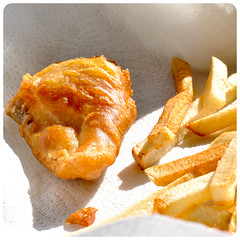 gluten-free Beer Battered Fish and Chips