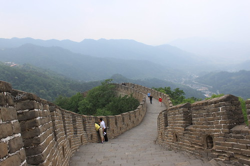 A great view of Mutianyu Great Wall Beijing China