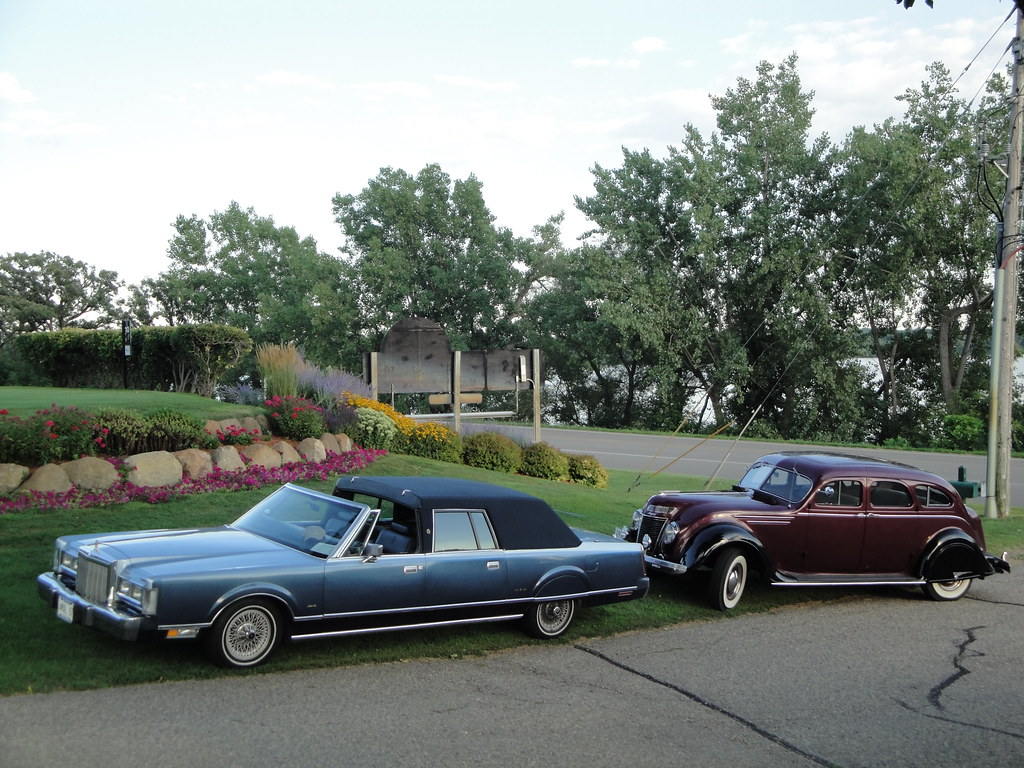 87 Lincoln Town Car 37 Chrysler Airflow