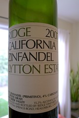 2007 Ridge Lytton Estate Zinfandel