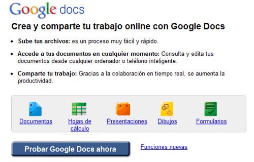 Herramienta de Colaboración Google Docs