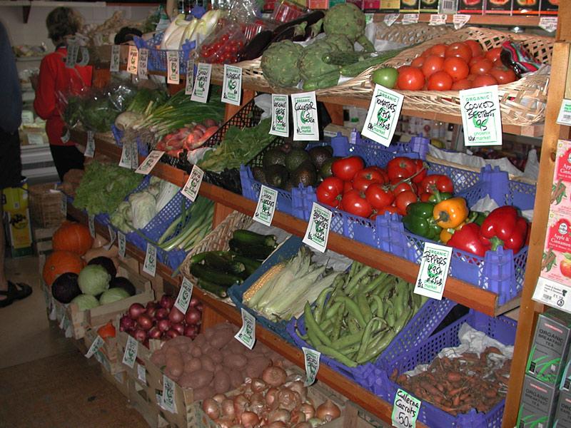 鳳凰商店的有機蔬果遠近馳名;圖片來源:findhornbay