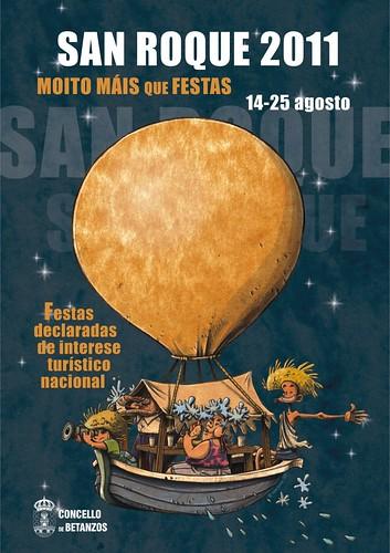 Betanzos 2011 - Festas de San Roque - cartel