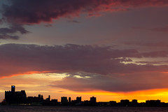 Sunset over Detroit MI (Mike Swiech) Tags: sunset lake ontario storm water clouds photography 50mm nikon flash bolt windsor lightning lightningbolt meteorology severeweather detroitmichigan windsorontario detriot tornadowatch earthsciences environmentcanada weatherphenomena goderichontario 50mmf18g severethunderstormwarning swiech atmosphericsciences nikon50mmf18g thunderstormsandlightning afs50mmf18g d3100 nikond3100 mikeswiech mikeswiechphotography