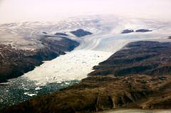Glacier (Jon Bowles) Tags: sea mountains ice rock landscape coast pentax sigma aerial atlantic greenland glaciers k5 icesheet