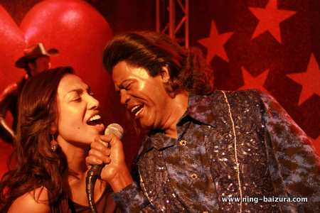 Ning & James Brown Madame Tussauds