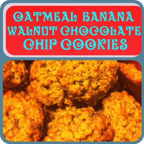 oatmeal banana walnut chocolate chip cookies
