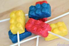 Lego Cake Pops and Cake Bites (1 Fine Cookie) Tags: party food cake kids children recipe dessert lego bites pops cakepops