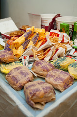 An Atypical Feast (seango) Tags: birthday chicken feast fastfood gravy mcdonalds fries kfc obesity tacobell mcdouble