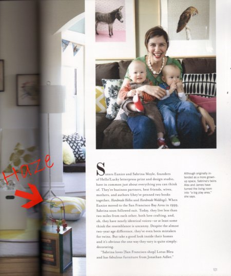 AphroChic Pillows In Spring Issue of Anthology Magazine
