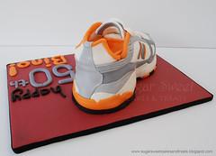 2011-07 Sneaker Running Shoe Cake (back) (SugarSweetCakes (Angela)) Tags: shoe carved mmf
