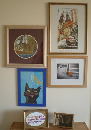 Picture Wall with Cats