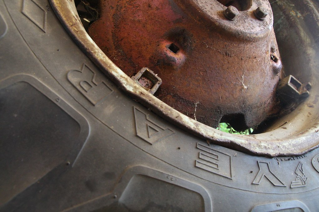 Tired tractor tire