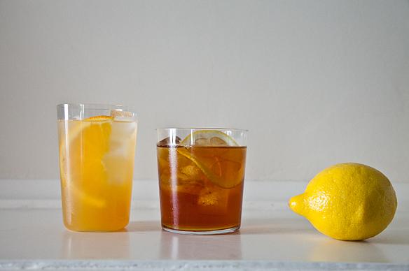 Iced Mint Tea, Orange Green Tea Sparkler