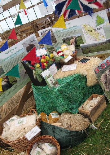 Lincoln Longwool products on display