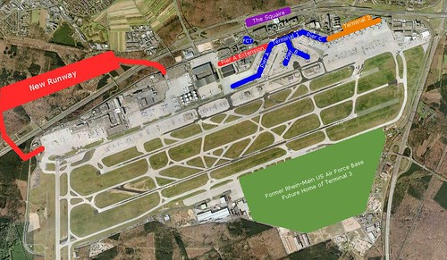 Frankfurt Airport Layout