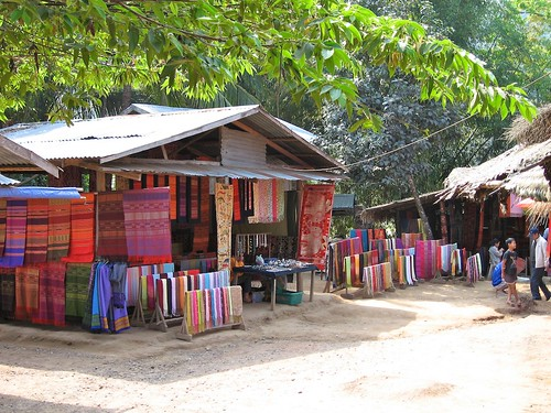 Handmade silk tapestries, Laos
