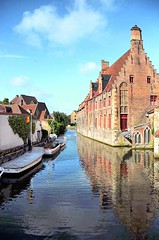 Bruges,  Belgium (faungg's photos) Tags: street old travel building brick water boat canal belgium bruges 0020