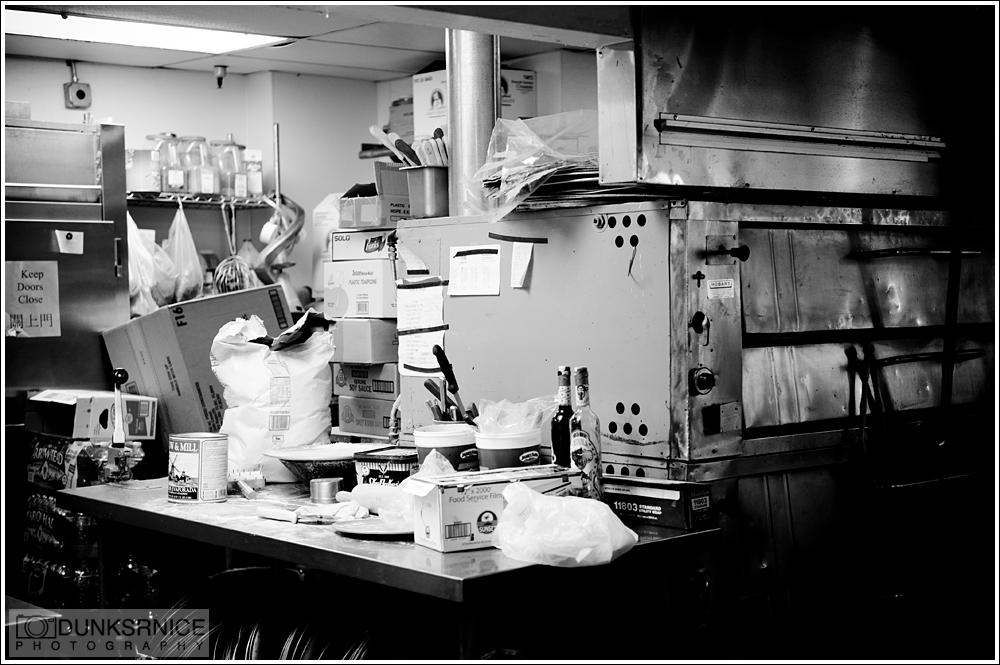 Kitchen B&W.