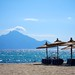 Halkidiki / Platanitsi beach, a view of Mount Athos