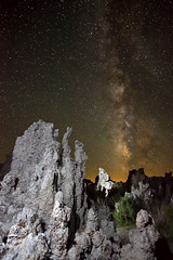 Milky Way over Mono Lake (facing south) (photofanman) Tags: california lake night way stars photography mono galaxy heavens milky tufa
