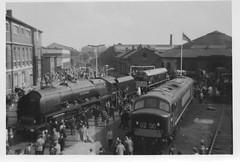 Ex LMS Pacific 4-6-2 46251 'City of Nottingham' at Derby Open Day 1963 (Railway Dave & Jim Freebury) Tags: steam railways britishrailways steamlocos railwaydepot stanier diesels uksteam derbyworks steamsheds railwaysuksteam diesellocos britishrailwayssteamlocos