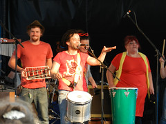 The Rhythm Corporation Drummers and Dancers (?) on Bray Seafront bandstand
