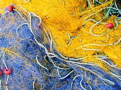 Inter-net colors (markb120) Tags: blue net yellow fishing fishnet greece ellada kamena vourla