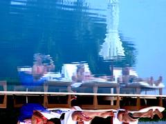In the pool (markb120) Tags: blue sun reflection water pool umbrella greece bikini sunbathing swimwear swimmingsuit ellada kamena vourla
