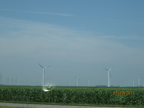 7/10/11: Wind farm north of Indianapolis.