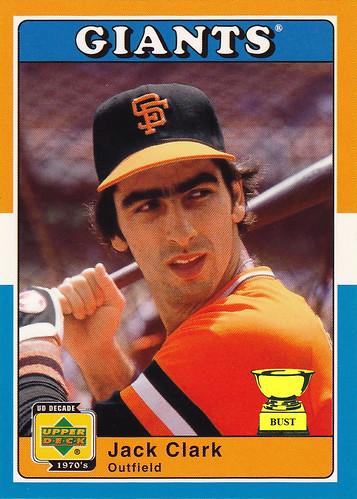 Baseball Card Bust Jack Clark 2002 Upper Deck Decade 1970s