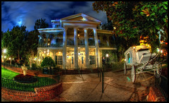of Midnight, Mansions and Moonlight (Gregg L Cooper) Tags: disneyland disney hdr hauntedmansion neworleanssquare canoneos7d