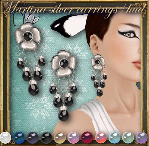 MARTINA silver earrings+HUD