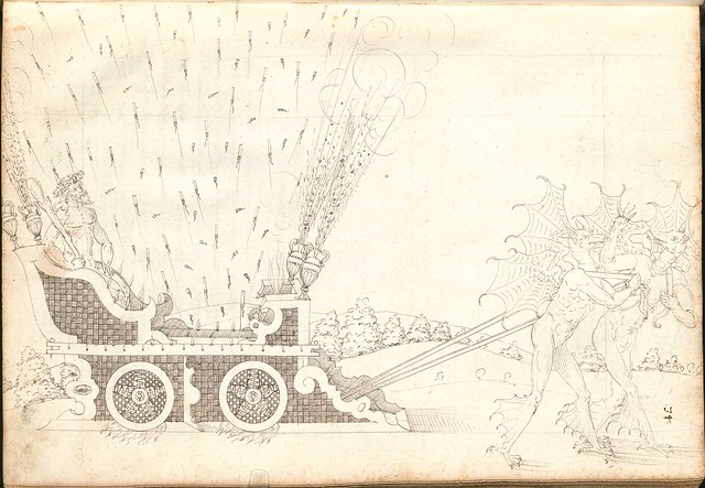 Early Modern manuscript warfare drawing -  Artilleriebuch 1582 BSB