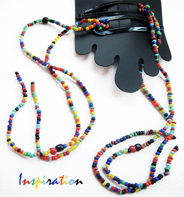 Monki beaded barrettes inspiration