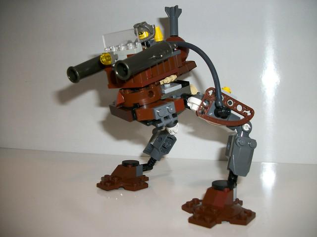 Canonière bipède en briques Lego par Fullmetal
