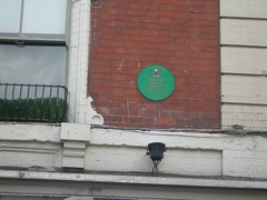 Photo of George Gordon Byron green plaque