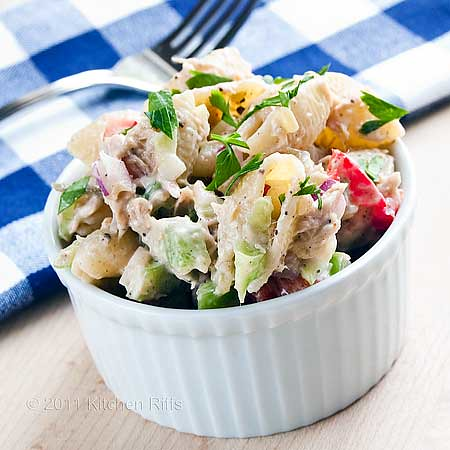 Tuna Pasta Salad in ramekin