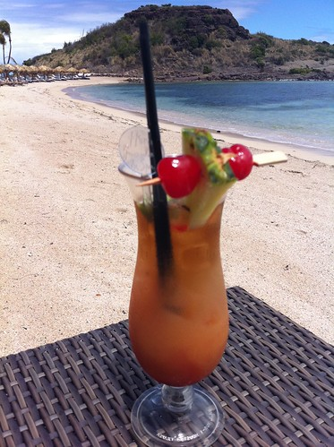 Cocktail at Hotel Guanahani, St. Barths