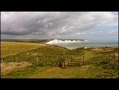 Seven Sisters (flipr.uno) Tags: family wedding friends sea party vacation sky dog cats holiday cute art clouds canon fence puppy sussex kitten sevensisters whitecliffs seaford fieldgate