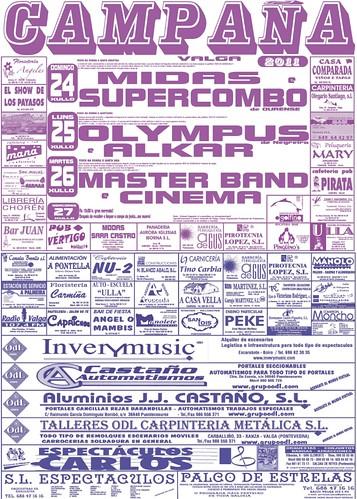 Valga 2011 - Festas de Campaña - cartel
