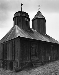 Fort Ross Church (Summicron20/20) Tags: camera field super 4x5 f56 xl kb schneider efke 110mm canham symmar dlc45 pl100m