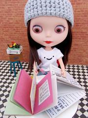 Parkin With Her Scrapbook